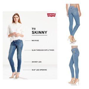 Levi's Women 711 Skinny Blue Jeans